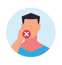 Do not touch face with dirty hands vector
