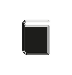 education book symbol - learning book icon vector image