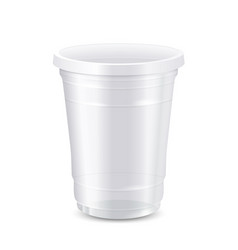 empty white disposable plastic cup vector image