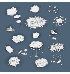 Explosions icons dodle set vector