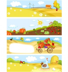 farm cards vector image