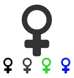 Female symbol flat icon vector
