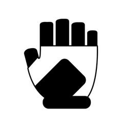 Fingerless gloves icon image vector