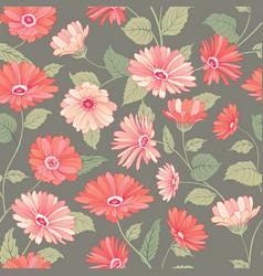 floral pattern flower marigold seamless background vector image