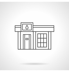 Gas station icon flat line design icon vector image
