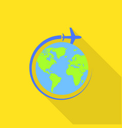 global avia flight icon flat style vector image