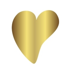 Gold gradient foil heart Valentine day love vector image