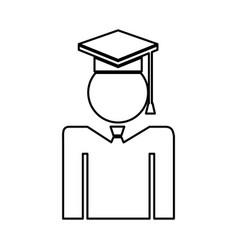 Graduated figure silhouette icon vector