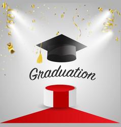 graduation congratulatory background graduate cap vector image