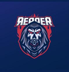 grim reaper mascot logo vector image
