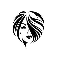 Hair style women vector