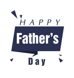 happy father day ribbon white background vector image