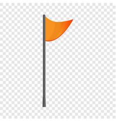 hiking flag icon cartoon style vector image