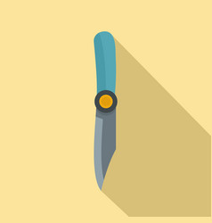 Hiking knife icon flat style vector