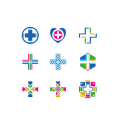 hospital logo collection vector image