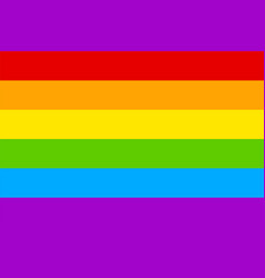 image bright colorful lgbt rainbow flag vector image
