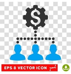 Industrial Bank Clients Eps Icon vector