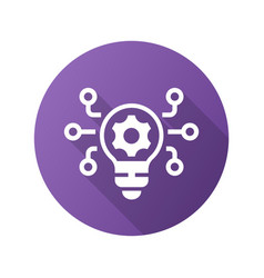 Innovation icon with long shadow for graphic vector