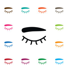 Isolated eyelash icon eyelid element can vector