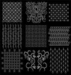 java batik pattern collection 2 vector image