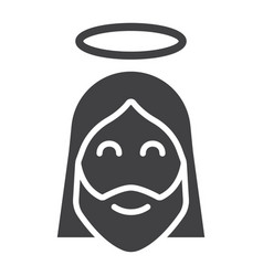 Jesus glyph icon easter and holiday christ sign vector