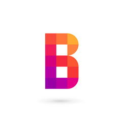 letter b mosaic logo icon design template elements vector image