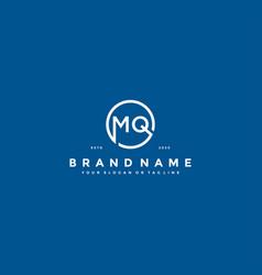Letter mq logo design vector