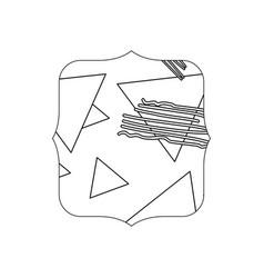 Line quadrate with geometric figure stye vector