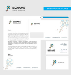Lollypop business letterhead envelope and vector