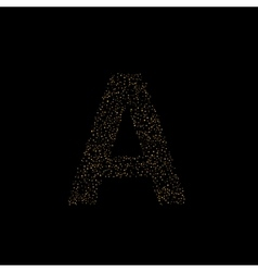 Magic A letter vector image