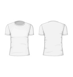 Man t-shirt cotton clothing vector
