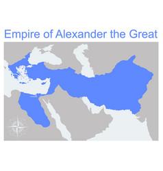 Map empire alexander great vector