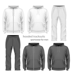 Men hooded tracksuit vector image