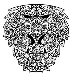 monkey stylized zentangle style ethnic monkey vector image