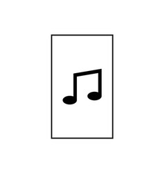 music file icon vector image