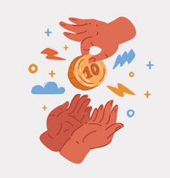 One person put coin vector