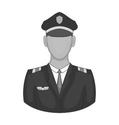 Pilot icon black monochrome style vector
