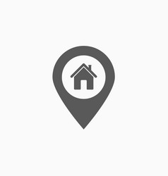 pin home icon vector image