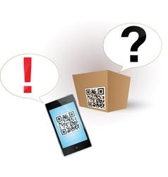 qr code smartphone box vector image