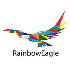 Rainbow Eagle Logo vector