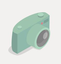 retro green pastel camera icon vector image