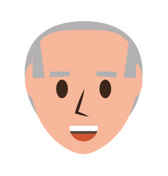 Retro old man cartoon vector