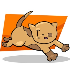 running kitten vector image