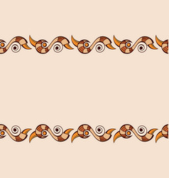 seamless horizontal border pattern with abstract vector image