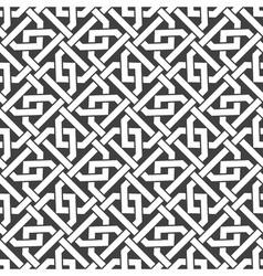 Seamless pattern of intersecting hexagonal braces vector