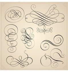 Set of calligraphy elemets vector