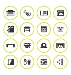 set round icons automatic gates vector image