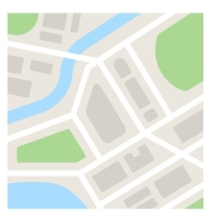 Simple Map vector image
