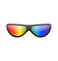 Sunglasses multicolor 3d summer sunglass shade vector