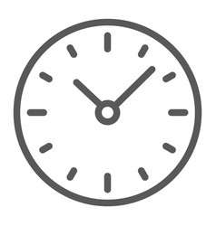 time line icon clock and minute hour sign vector image